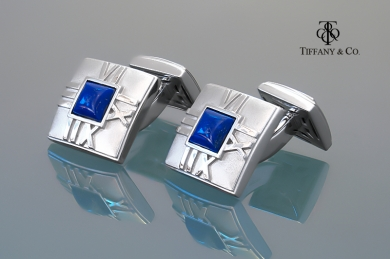 Tiffany & Co. Запонки Tiffany & Co. Atlas c лазуритом